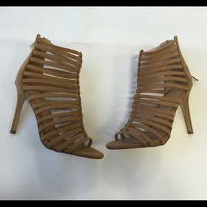 lipsy london Shoes - Lipsy London Camel Caged High Heels Sandals Size 7