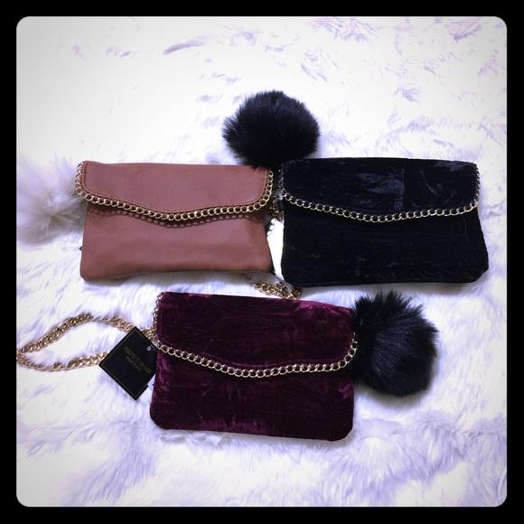 Perfect Image New York Handbags - 🎈SALE Elegant Wristlet Gold Chain & PomPom -BG-1