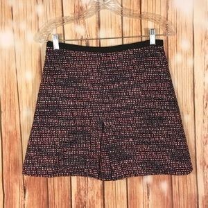 H&M Tweed Black & Pink Mini Skirt