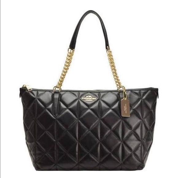49 Off Coach Handbags Coach Quilted Leather Ava Chain