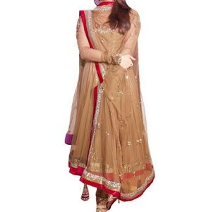 Bollywood anarkali suit.