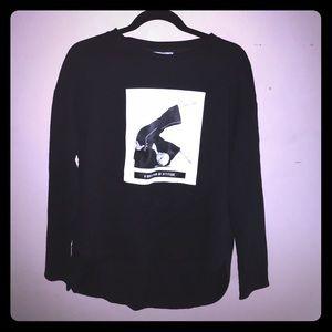 Nwt ZARA black long sleeve black women top size s