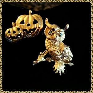 Vintage Jewelry - 🌟SALE🌟Signed Owl Brooch