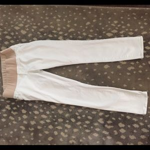 Old Navy white skinny jeans maternity 4