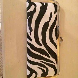 new directions Handbags - NWT Zebra Wallet