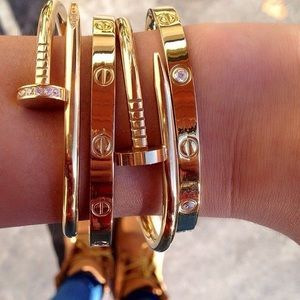 Jewelry - Gold love cuff bangle