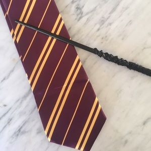 Accessories - Harry Potter tie, glasses, and a DIY wand