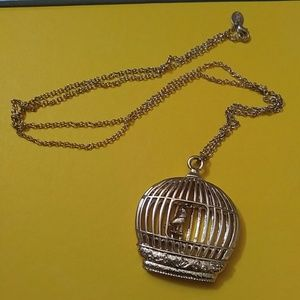 Lilly Pulitzer Jewelry - Gold birdcage necklace