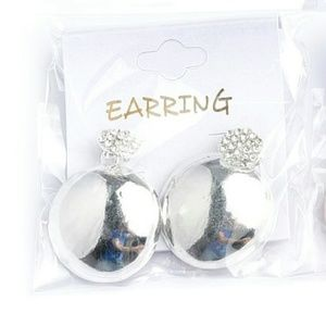 Jewelry - Jewelry | ROUND SILVER & CRYSTAL LADY BUG EARRINGS