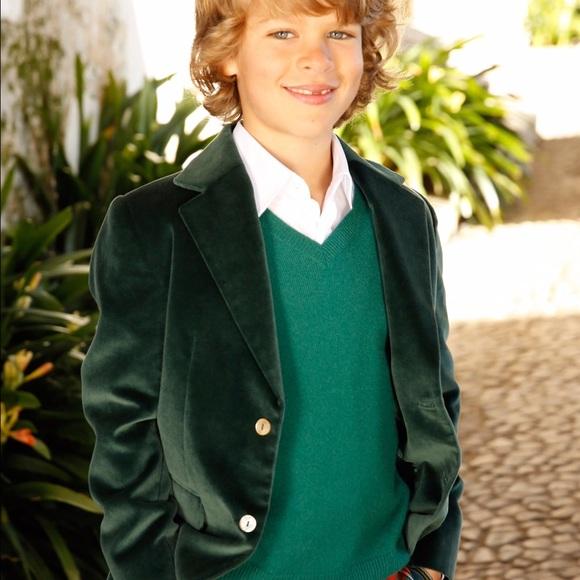 a4640a321f01 Boys Green Blazer