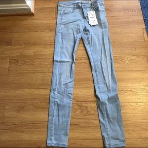 Zara super skinny blue jeans. Size 6 BNWT