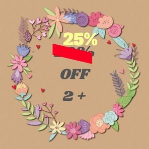 25% off 2 or more items when you bundle 💜💥