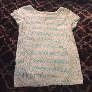 Lauren Conrad floral lace shirt