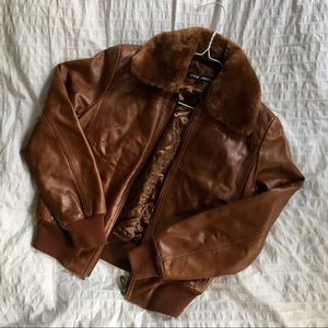 Gorgeous vintage leather bomber