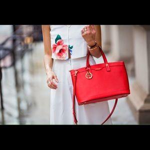 HENRI BENDEL red handbag