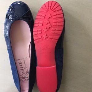 9c4945ec1337 Bisue Ballerinas Shoes - Navy patent   suede ballerina flats