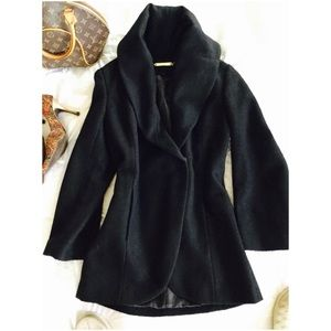 iman  Jackets & Blazers - IMAN Gorgeous knockout Hollywood coat black S