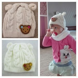 Other - Bear Ear Knit Beanie Hat Baby Toddler