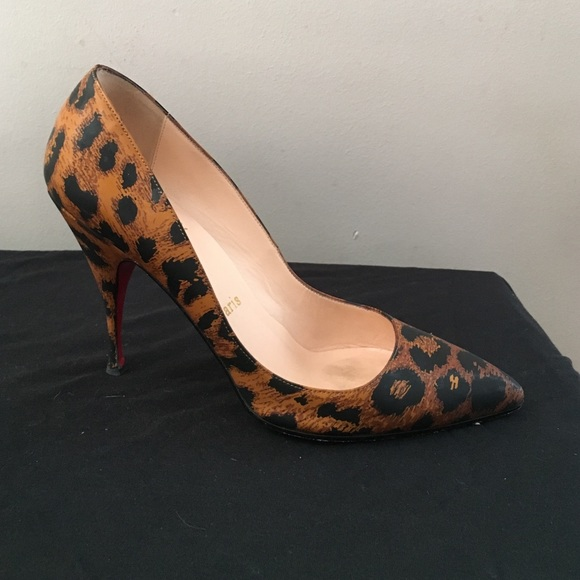 info for 02aad d7671 Louboutin Pigalle pumps in leopard patent leather