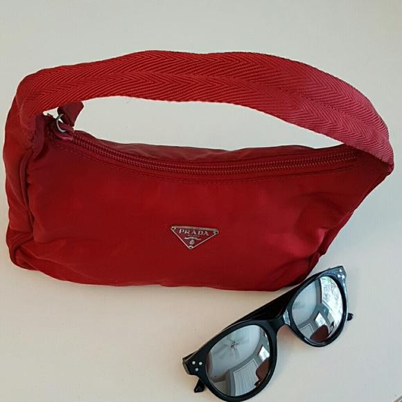 fa0607c9 Prada Tessuto nylon mini purse in red