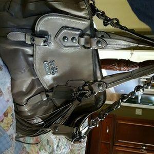 Handbags - Coach leather satchel carry-all EUC brynne