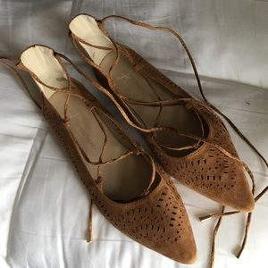 atmosphere Shoes - Lace Up Flats Size 8