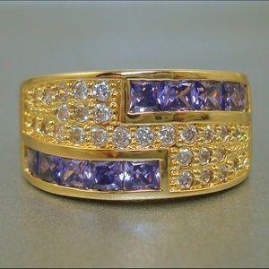 Jewelry - Vintage Purple Crystal Rhinestone Ring