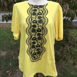 Bob Mackie Tops - Bob Mackie Wearable Art Shirt Size Medium