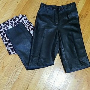 Jacqueline Ferrar Pants - Black leather pants by Jacqueline Ferrar
