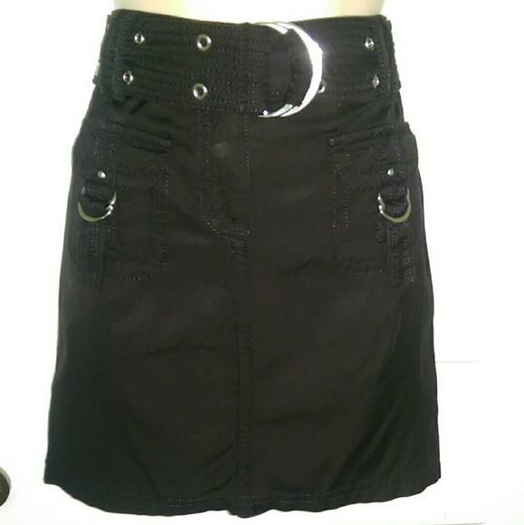 1bc5646bf6f White House Black Market Skirts | Whbm Black Short Cargo Skirt Sz 0 ...