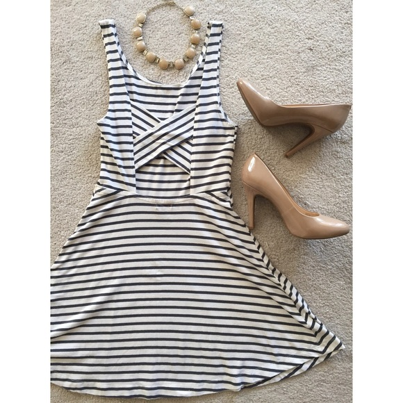 American Eagle Outfitters Dresses   Skirts - American Eagle Striped Skater  Dress ec427cc74