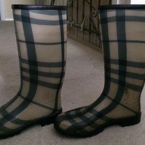 burberry rain boots mens