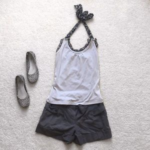 Tops - Gray halter top