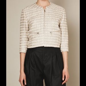 Theysken's Theory Jackets & Blazers - Theyskens Theory Cream Knit Blazer
