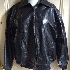 Duke Haband Other - Men's black leather jacket
