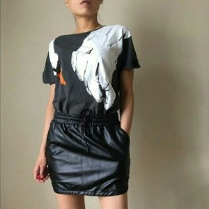 Harmony Havoc Black Faux Leather Skirt