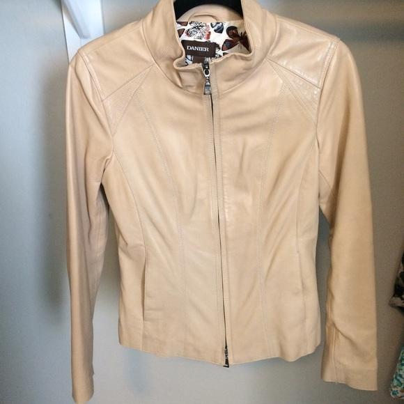 super service exquisite craftsmanship special buy Beige leather Jacket - Danier Leather
