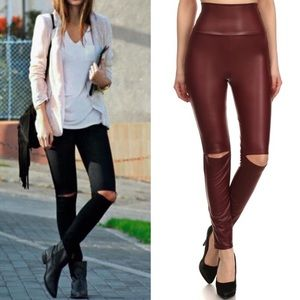 MCKINNLEY chic slick leggings - BURGUNDY