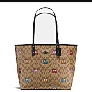 Coach tote pacman bag limited edition