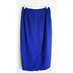 🌺Vintage🌺Gorgeous blue midi wrap skirt