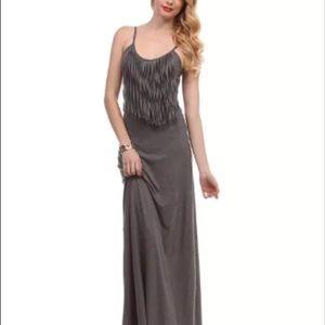 Dresses & Skirts - Women maxi fringe dress size m and l