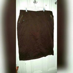 Fashion Bug Dresses & Skirts - Long Brown Skirt