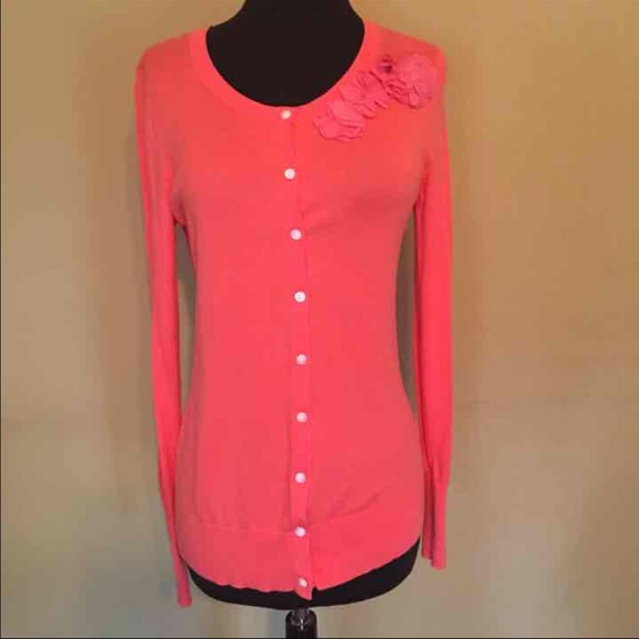 80% off Old Navy Sweaters - Old Navy coral cardigan sweater Small ...