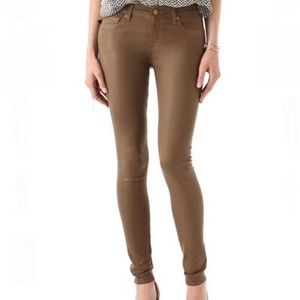 7 For All Mankind Coated Skinny Jeans