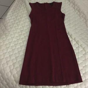 MANGO burgundy pencil dress