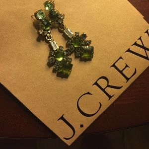J crew stone drop earrings