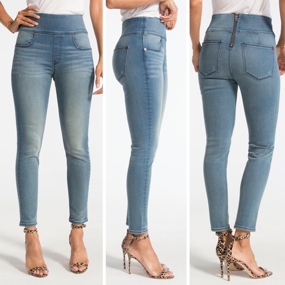 d40d05a52d6 SPANX SIGNATURE ANKLE SKINNY JEANS WITH BACK ZIP
