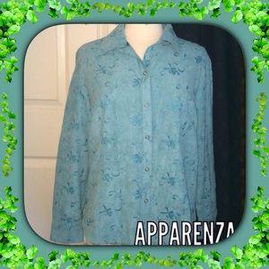 Apparenza Jackets & Blazers - Apparenza Lightweight Jacket / Turquoise / Large
