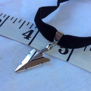 Arrowhead Pendant Velvet Choker Necklace