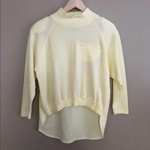 Vintage Asymmetrical Mock Neck Sweatshirt